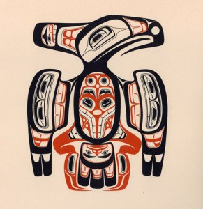 Robert Davidson Thunderbird Potalatch Print at Douglas Reynolds Gallery on South Granville, Vancouver, BC Canada